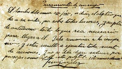 Manuscrito Pensamientos de un viejo - Fernando González