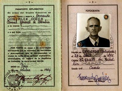 Pasaporte de Fernando González Ochoa