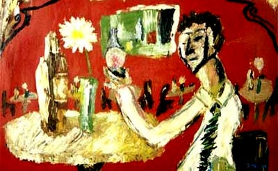 """""""One Armed Man Holding A Glass of Wine"""" por Justin Stiles"""