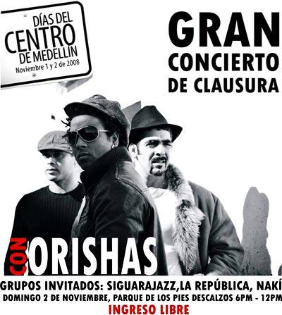 Orishas en los Días del Centro de Medellín