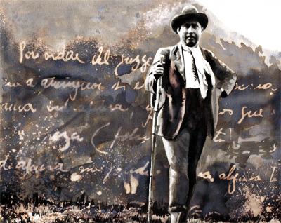 """""""Viaje a pie"""" de Fernando González - Ilustración por Daniel Gómez Henao"""