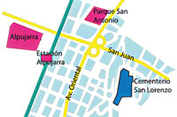 Mapa Parque Cementerio San Lorenzo