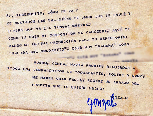 Carta de Gonzalo Arango a Michael Smith