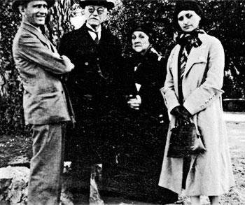 Fernando González, Carlos E. Restrepo, Isabel Gaviria de Restrepo y Margarita Restrepo