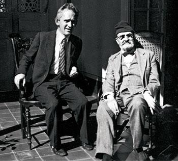 """Fernando González y Tomás Carrasquilla - 1935 / """"De filósofo a filósofo"""" - (Fotografía especial para la edición extraordinaria de Relator)"""