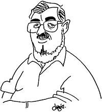 Estanislao Zuleta - Caricatura por Elkin Obregón (1991)