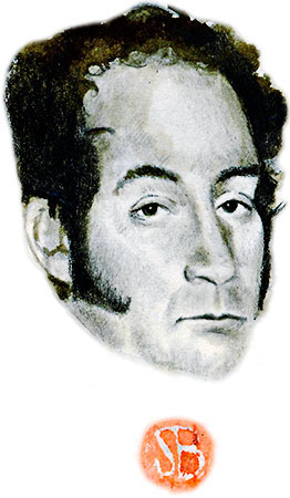 Simón Bolívar - Ilustración por Daniel Gómez Henao