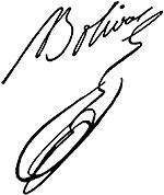 Firma de Simón Bolívar