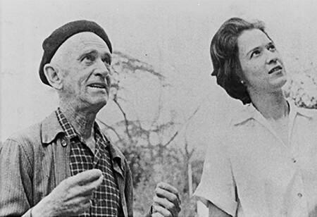 Fernando González y María Helena Uribe de Estrada (1963). Foto por Leonel Estrada.