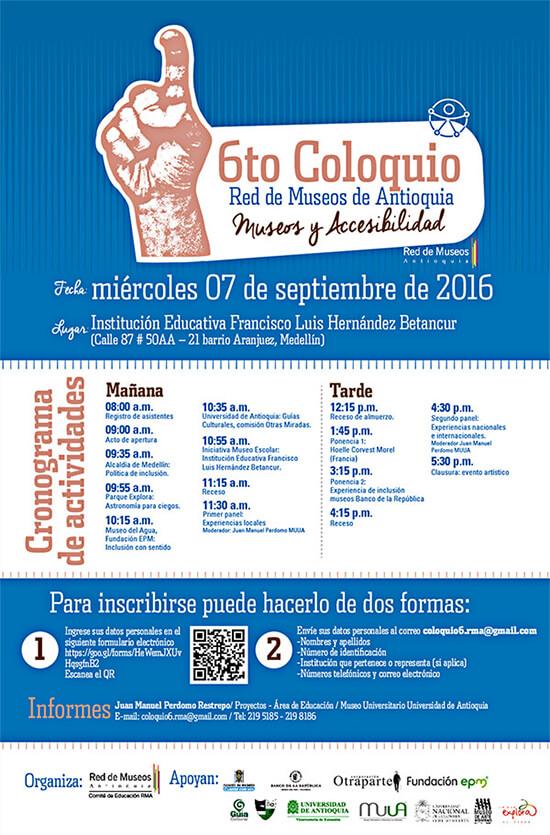 VI Coloquio Red de Museos de Antioquia - Museos y accesibilidad