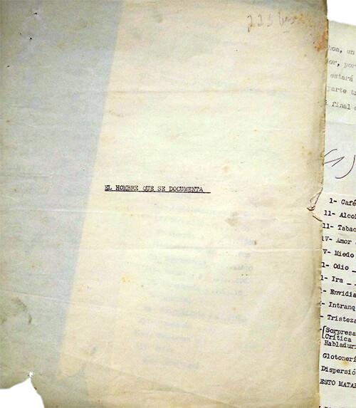Mecanuscrito de la última parte de «Mi Simón Bolívar»