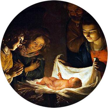 «Adorazione del Bambino» por Gerard van Honthorst (1592-1656)