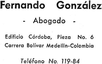 Dirección y teléfono del abogado Fernando González