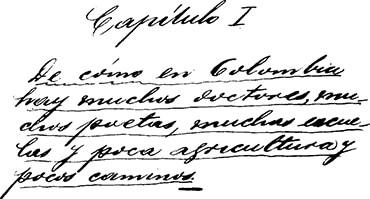 Primera página del libro «Una tesis» (1919) de Fernando González