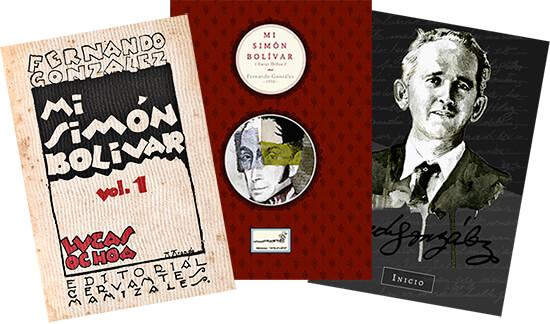 Dos portadas del libro «Mi Simón Bolívar» y la de la página web Otraparte.org