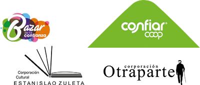 Bazar de la Confianza, Confiar Cooperativa Financiera, Corporación Cultural Estanislao Zuleta y Corporación Otraparte