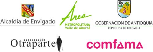 Logos Corporación Otraparte, Comfama, Municipio de Envigado, Área Metropolitana y Gobernación de Antioquia.
