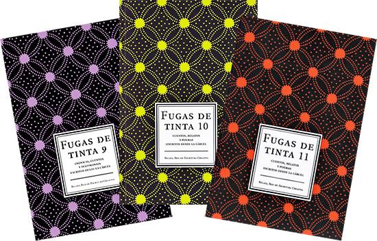 Portadas 9, 10 y 11 de la serie «Fugas de tinta» del programa Libertad Bajo Palabra del Ministerio de Cultura