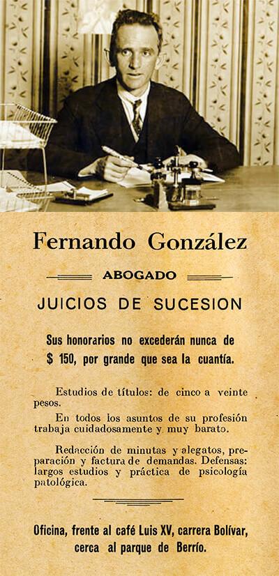 Aviso de abogado de Fernando González