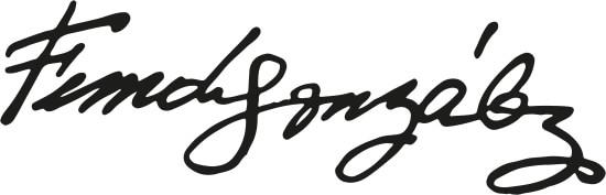 Firma de Fernando González