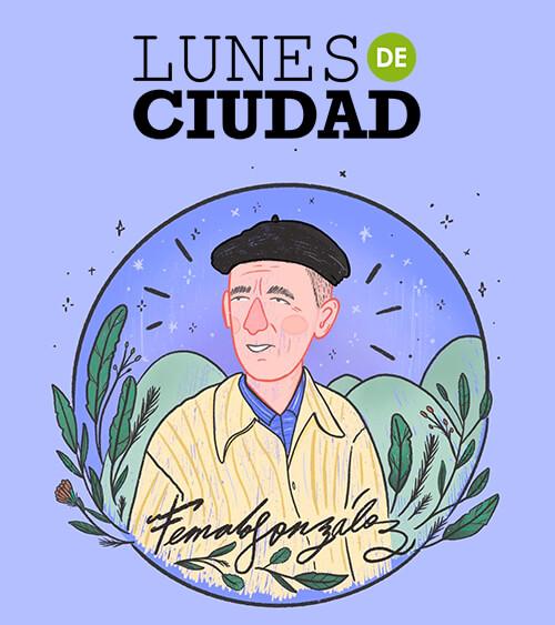 Ilustración de Fernando González para un afiche de Lunes de Ciudad dedicado a su memoria