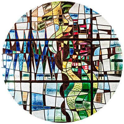 Vitral de la Casa Museo Otraparte - Obra de Leandro Velasco
