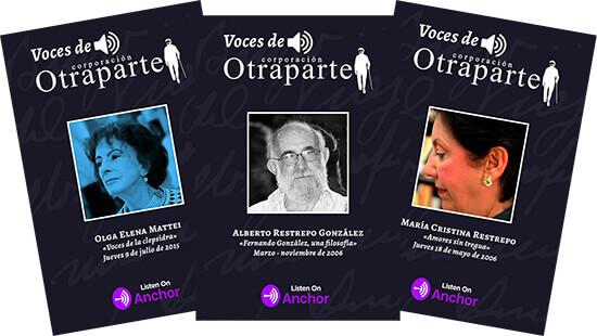 Piezas de difusión del proyecto «Voces de Otraparte»