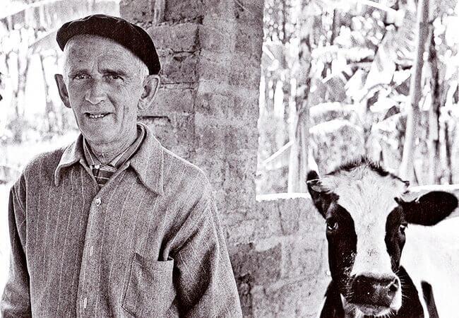 Fernando González y la Paturra - Foto © Guillermo Angulo (1959)