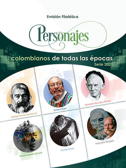 Emisión filatélica «Personajes colombianos de todas las épocas» (serie 2021)