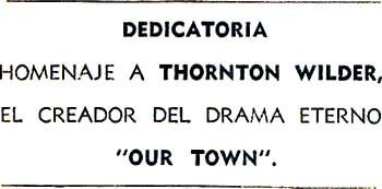 Dedicatoria de Fernando González a Thornton Wilder en «El maestro de escuela»