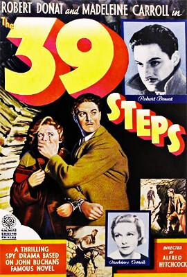 39 escalones - Alfred Hitchcock