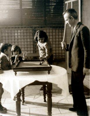 Fernando González y sus hijos