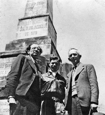 Pedro Nel Gómez, Giuliana Scalaberni y Fernando González