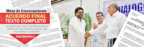 Acuerdo de paz Gobierno - Farc
