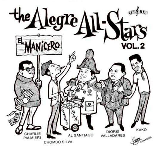 Ilustración de Al Santiago y The Alegre All-Stars por Izzy Sanabria