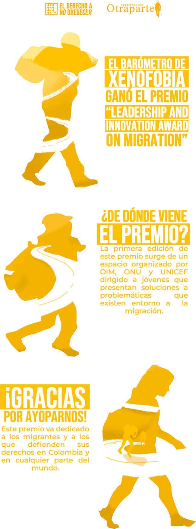 Barómetro de Xenofobia - Leadership and Innovation Award on Migration - Una iniciativa liderada por El Derecho a No Obedecer