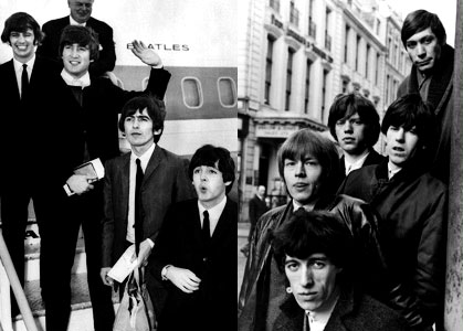 The Beatles vs. The Rolling Stones: cara a cara