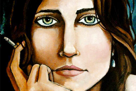 «Portrait of Kate with a Cigarette» de Jennifer Yoswa