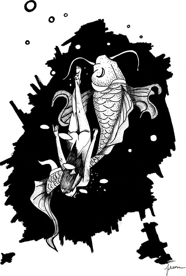 Ilustración de Juan Ángel para el libro «Botamán Biyá» de Ana Lucía Cardona