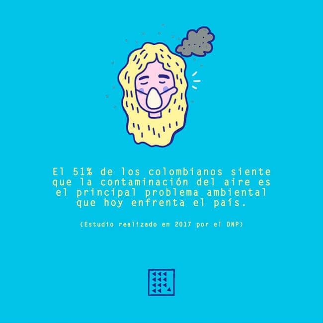 Ilustración sobre la calidad del aire del proyecto El Derecho a No Obedecer