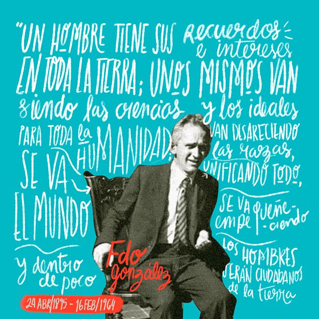 Pieza gráfica de El Derecho a No Obedecer en homenaje a Fernando González Ochoa