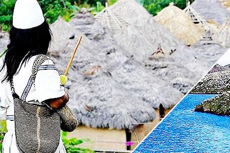 Indígena y paisajes colombianos - Foto © Semana Sostenible
