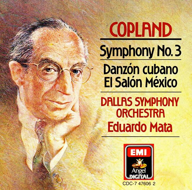 Carátula del disco de Aaron Copland «Symphony n.º 3 - Danzón Cubano - El Salón México»