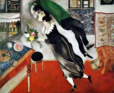 """""""El cumpleaños"""" por Marc Chagall"""