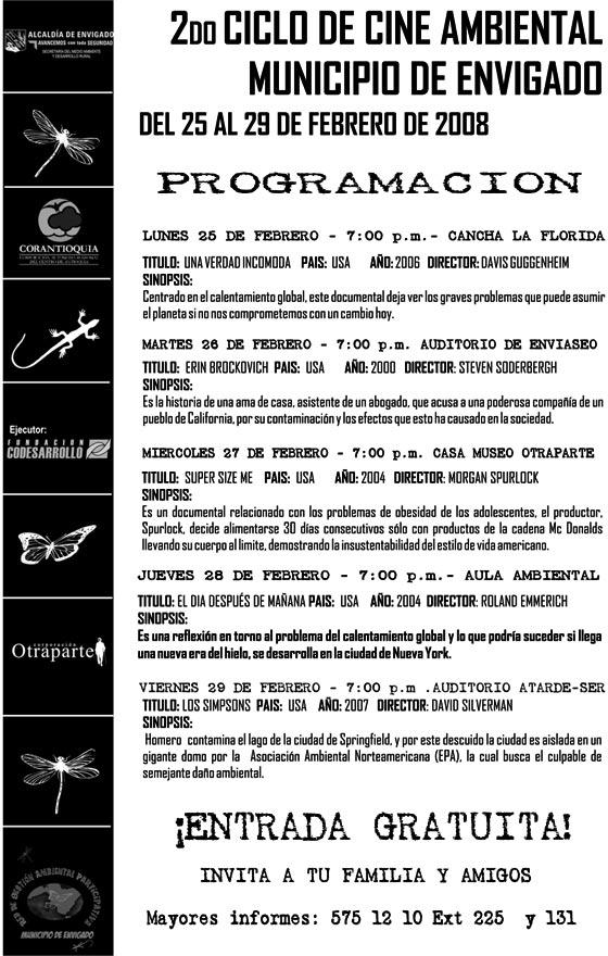 II Ciclo de Cine Ambiental Municipio de Envigado