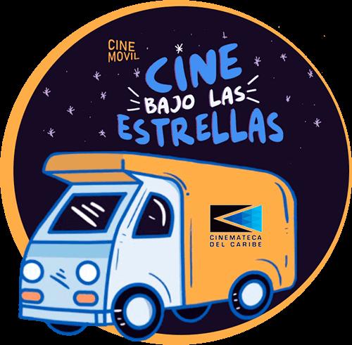 Logo del proyecto «Cine bajo las estrellas» de la Cinemateca del Caribe
