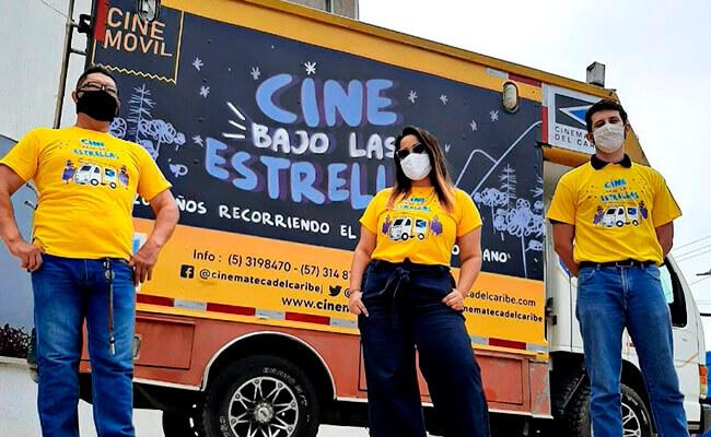 Foto del proyecto «Cine bajo las estrellas» de la Cinemateca del Caribe