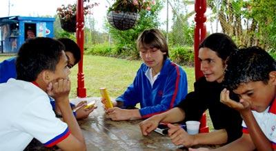 Estudiantes del colegio Cocep Siglo XXI
