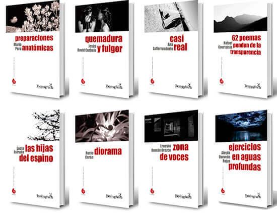 Primeros ocho títulos de la colección de poesía «Alfabeto del mundo»