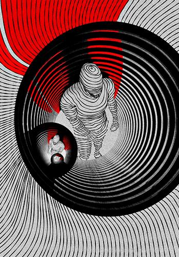 Ilustración «¿Cómo vamos de abismo?» - Ilustración © Edwin Agudelo